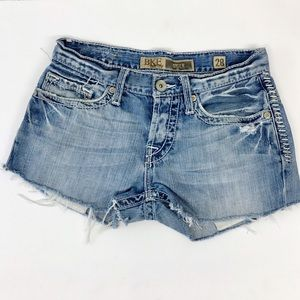 BKE Cut Off Jeans Shortie Shorts Distressed Sz 28